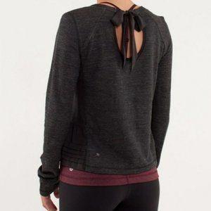 Lululemon Sattva Pullover Heathered Black 2/4